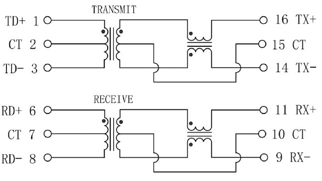 LAN Transformer Schematic